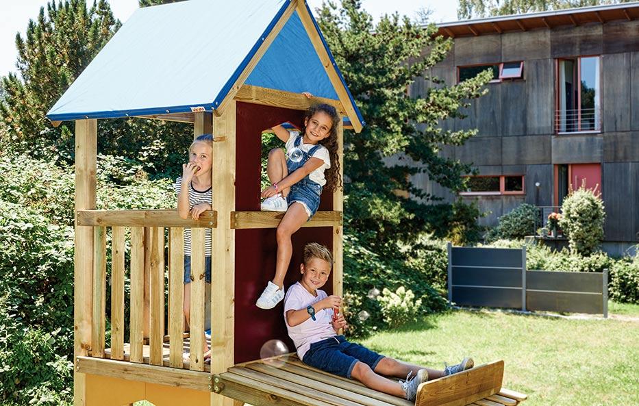 Sichere Spielgeräte für Garten und Spielplatz von Holz-Wiegand in Würzburg.