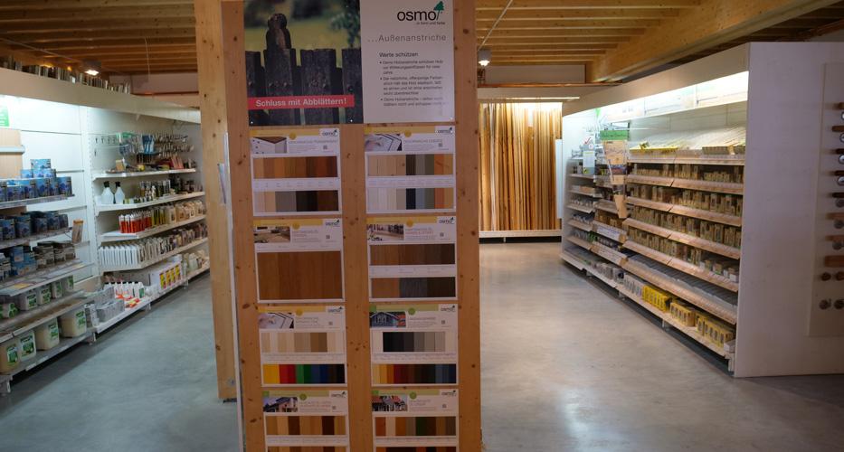 Große Auswahl an Zubehör in der Ausstellung von Holz-Wiegand in Würzburg.