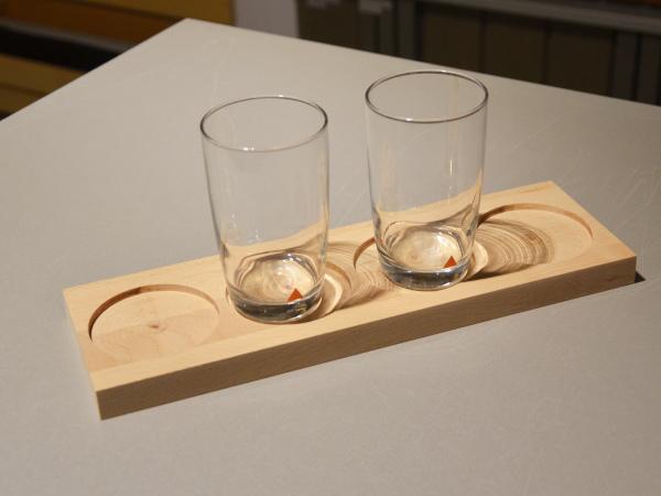 Dekorative Gläserbretter von Holz-Wiegand in Würzburg.