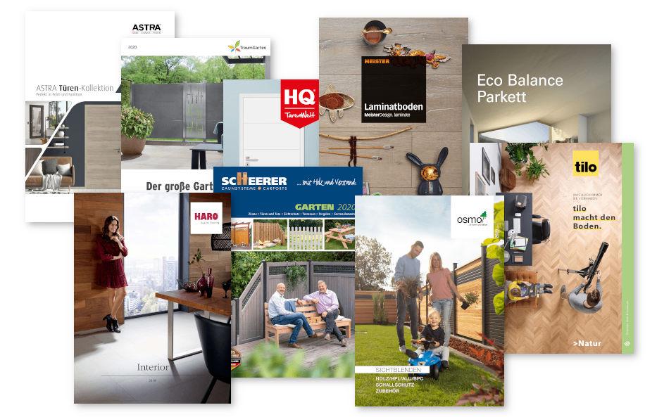 PDF-Kataloge unserer Hersteller bieten wir bei Holz-Wiegand zum Download an.