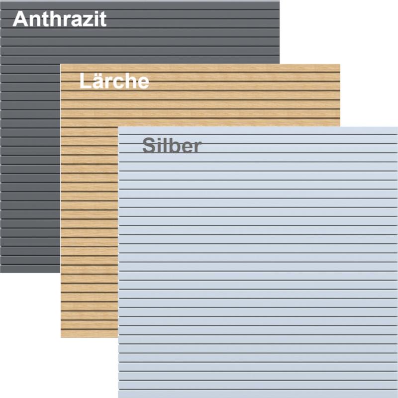 Modulzaun System Rhombus in Lärche bei Holz-Wiegand in Würzburg.