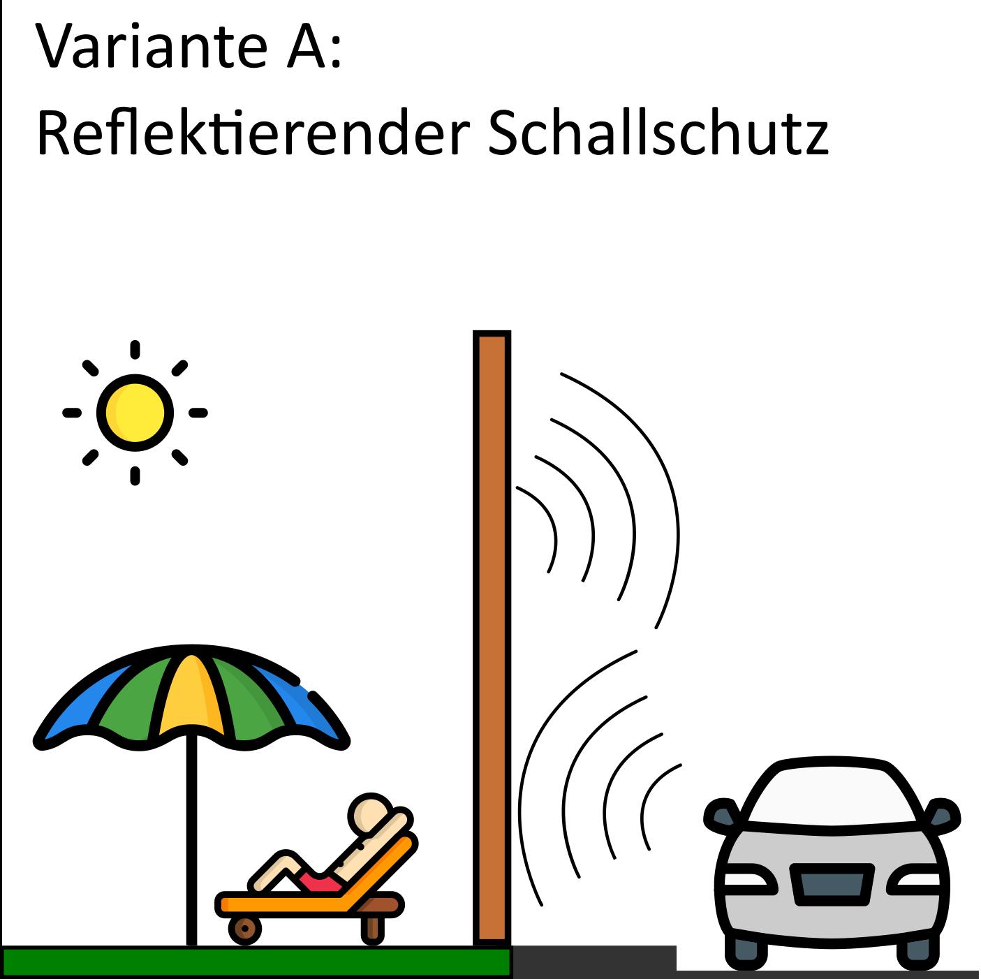 Schallschutzzaun in der reflektierenden Variante